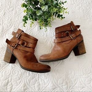 Josef Seibel Britney Harness Leather Booties 7.5